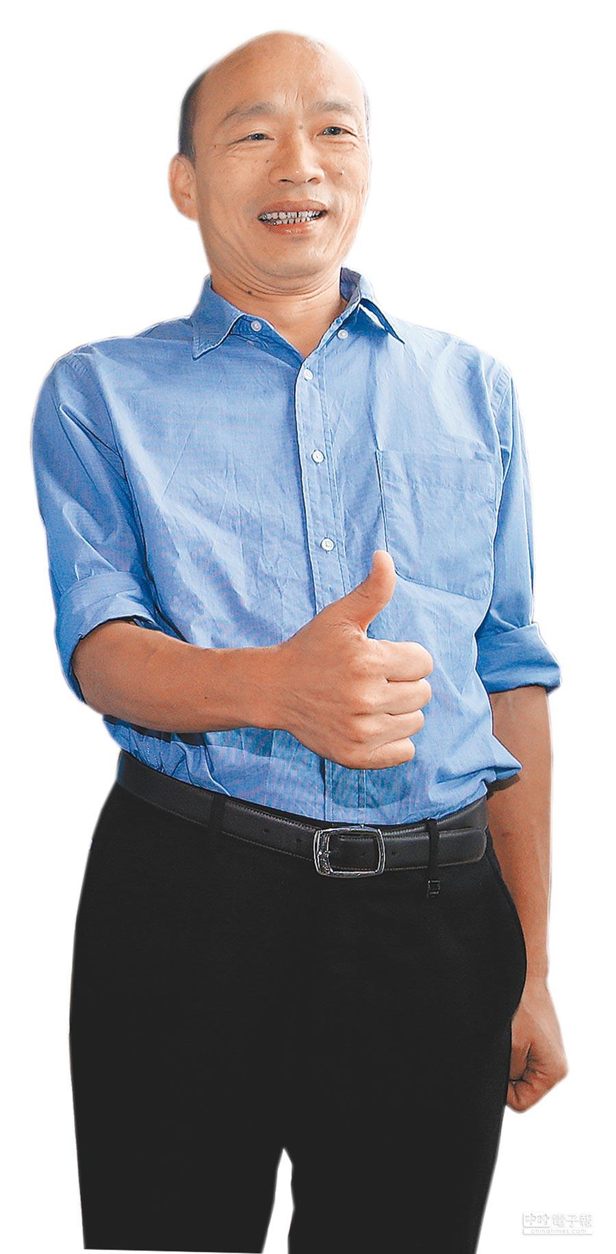高雄市長選情緊繃,根據《旺旺中時媒體集團》最新民調顯示,國民黨候選人韓國瑜42.5%。(本報資料照片)