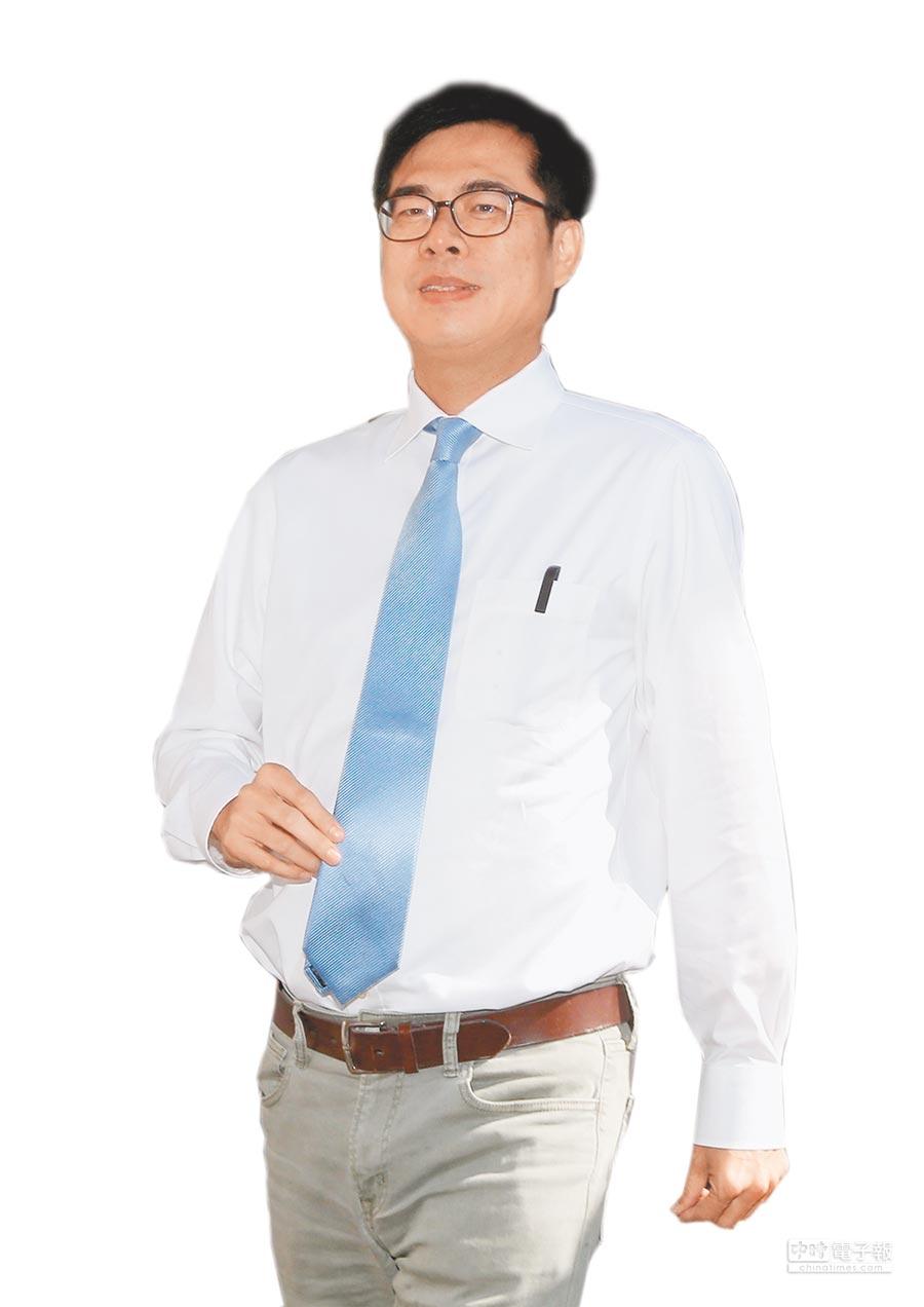 《旺旺中時媒體集團》最新民調顯示,民進黨候選人陳其邁以38.9%支持度微幅落後國民黨候選人韓國瑜。(本報資料照片)