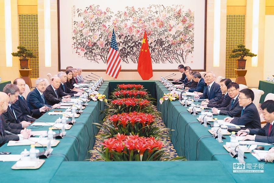 6月3日,大陸副總理劉鶴帶領的中方團隊與美國商務部長羅斯帶領的美方團隊,就兩國經貿問題進行磋商。(新華社)