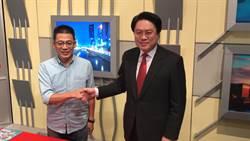 基隆》市長政見發表會 林右昌、謝立功握手不忘互虧