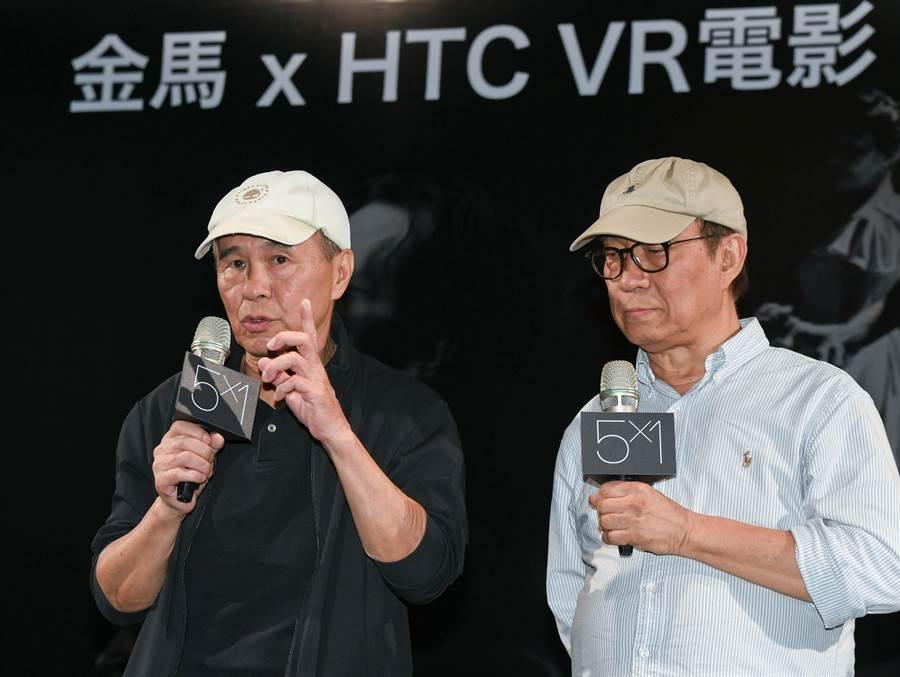 導演侯孝賢與廖慶松談監製VR電影《5x1》的經驗。(金馬執委會提供)