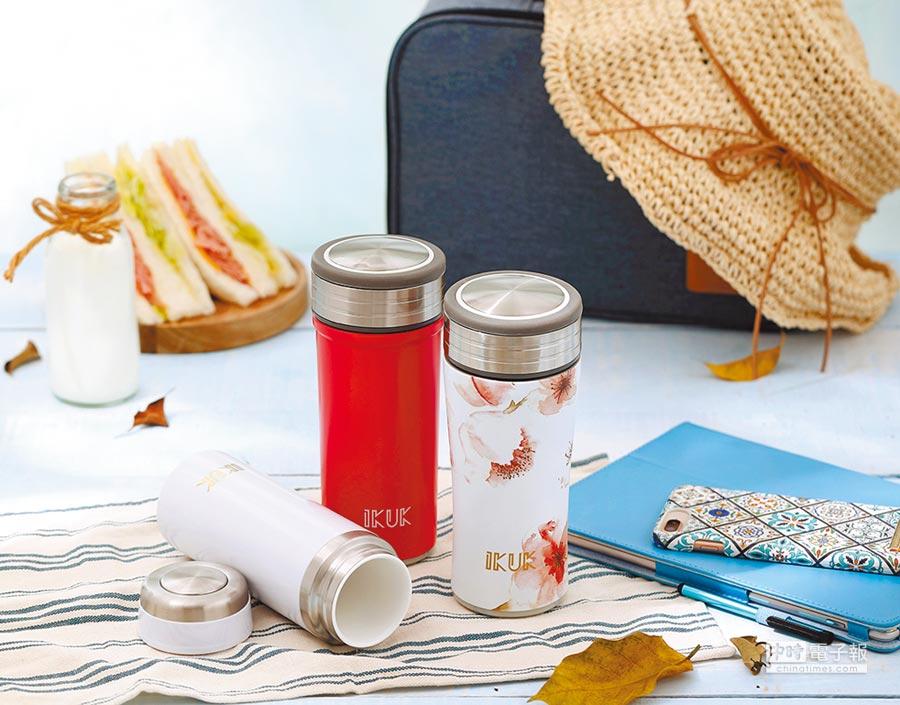 艾可陶瓷保溫杯廣受海外華人青睞,新零售系統上線後,消費者訂購、團購更輕鬆。圖/業者提供