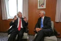 APEC高峰會 彭斯與張忠謀雙邊會談
