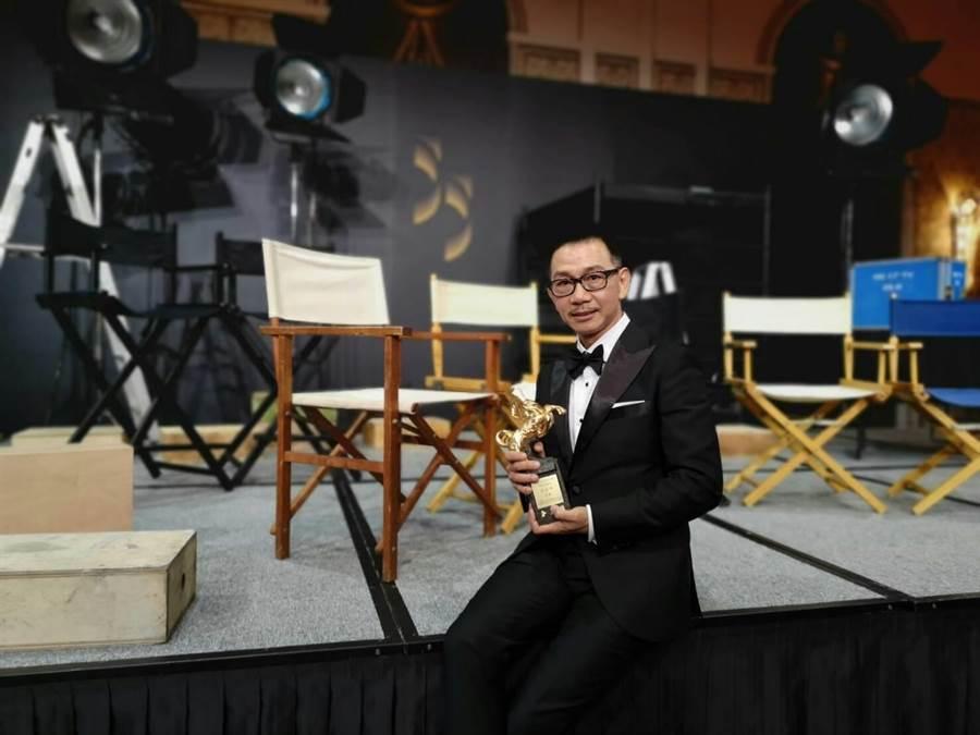 袁富華獲本屆金馬獎最佳男配角大獎。(經紀人提供)