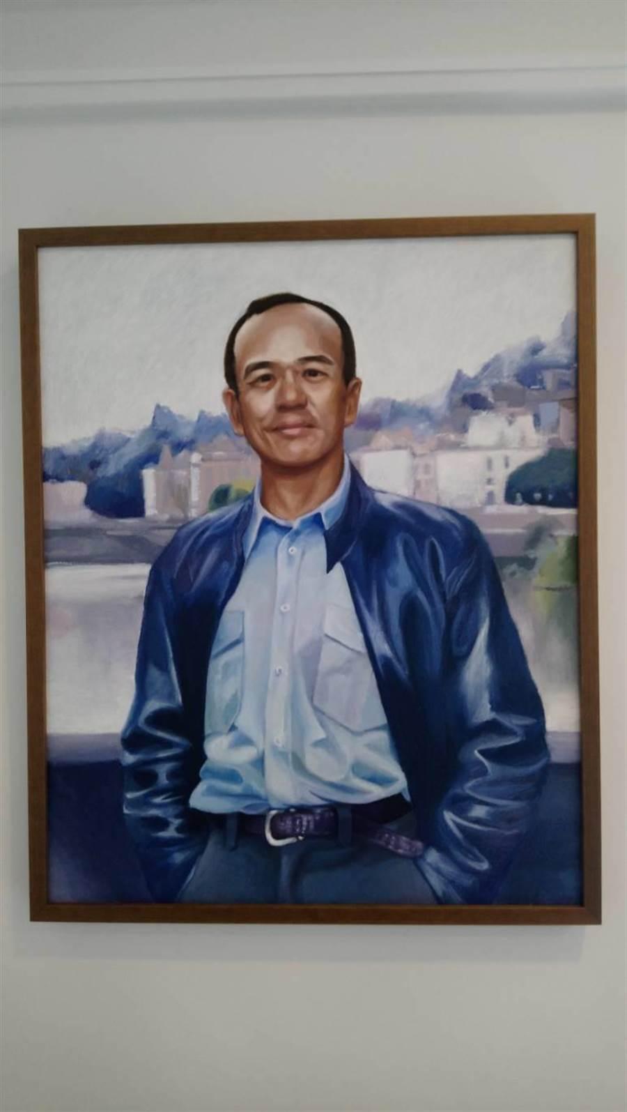 聯聚建設提供獎金舉辦「JIMMY HOUSE油畫創作徵選」,該畫作拿下第一名。(圖/曾麗芳)