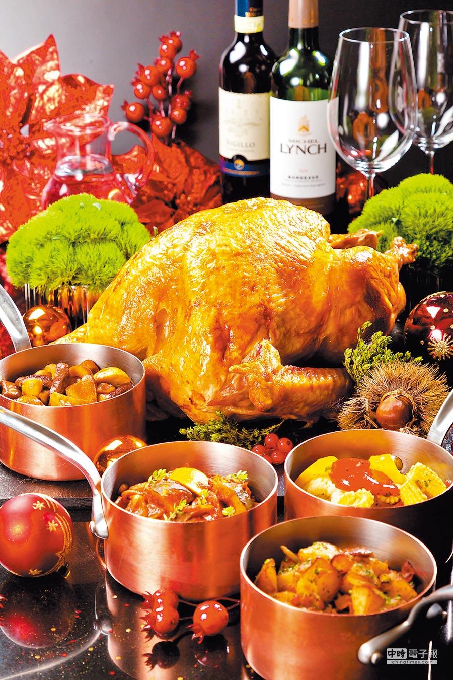 已賣近15年的台北晶華酒店感恩節火雞,出自法籍主廚之手研發。(台北晶華酒店提供)