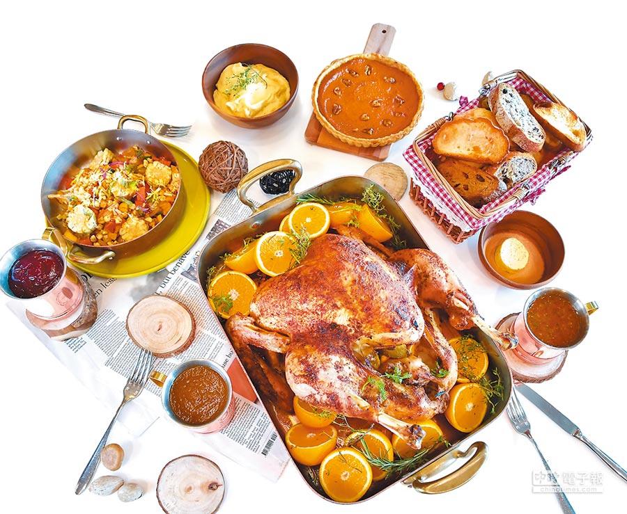 台北六福萬怡酒店以路易西安納州特有的「肯瓊香料」烹調火雞,風味格外辛香。(六福旅遊集團提供)