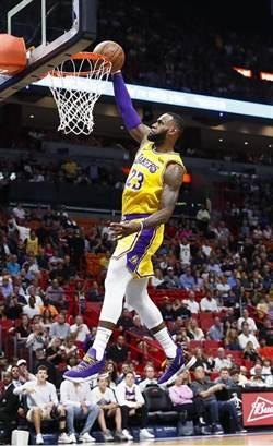 NBA》單節19分 全場51分 詹姆斯砲轟老東家熱火