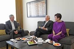 李顯龍臉書公布和張忠謀夫婦會晤