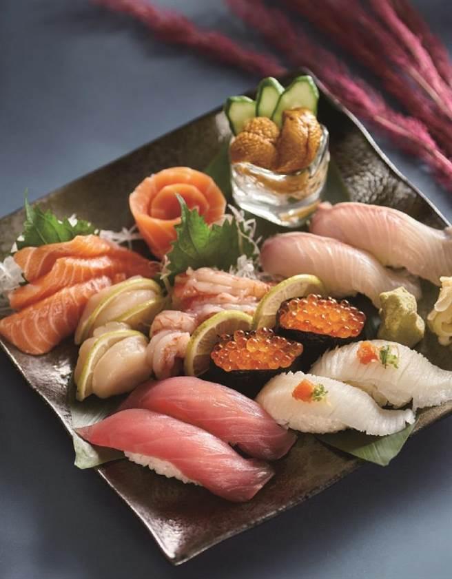 微風南京「丸壽司」丸一起盛和+魚湯,原價1320元、特價1160元。(微風提供)