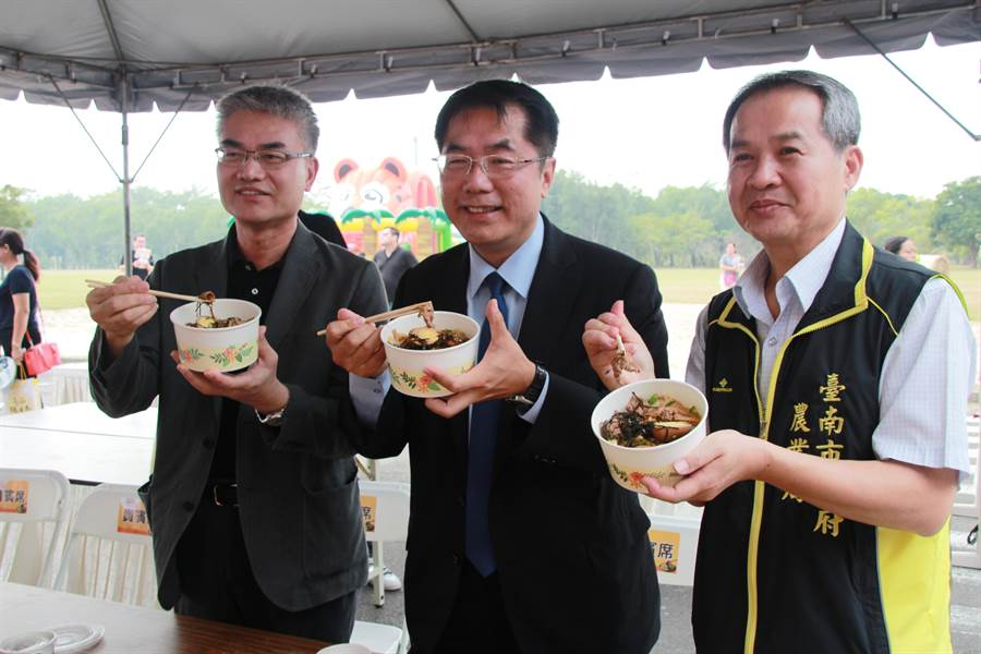 台南市農業局推廣優質國產牛肉,舉辦「牛肉好蒡.一起來丼丼-2018國產牛肉行銷活動」。(柯宗緯翻攝)