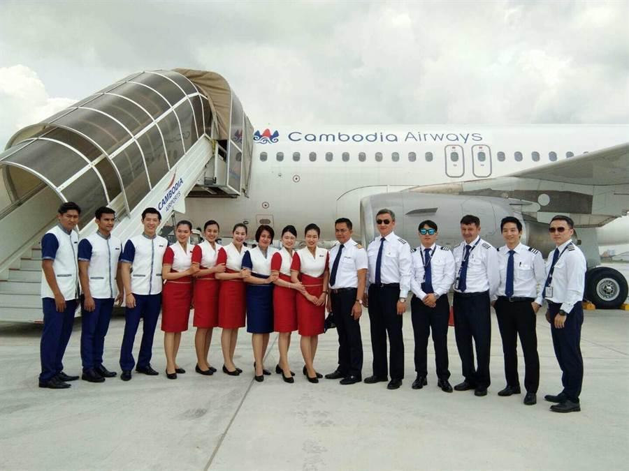 柬埔寨航空的機組員。圖;業者提供
