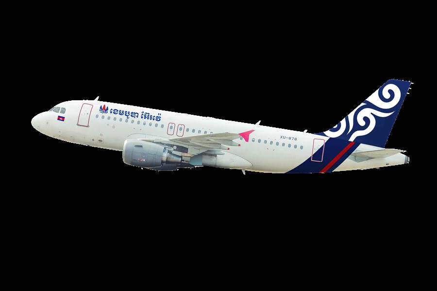 柬航以A319客機飛台中,可載客150人,有賣散客票。圖:業者提供