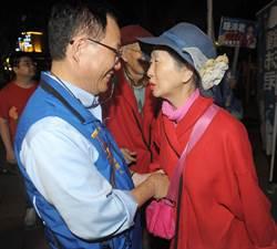 國民黨台北市長候選人丁守中到永康商圈掃街拜票