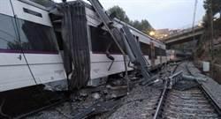 西班牙一輛列車撞到山崩而出軌 導致1死44傷