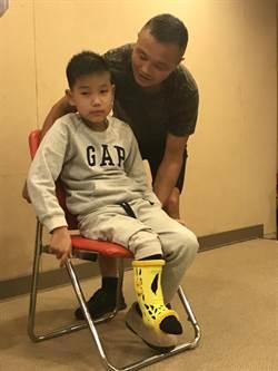 15公分長短腳蒙古男孩骨折 跋涉四千公里來台醫治