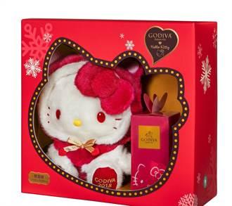 HelloKitty粉必敗 全台限量2千組Godiva聯名巧克力將開賣