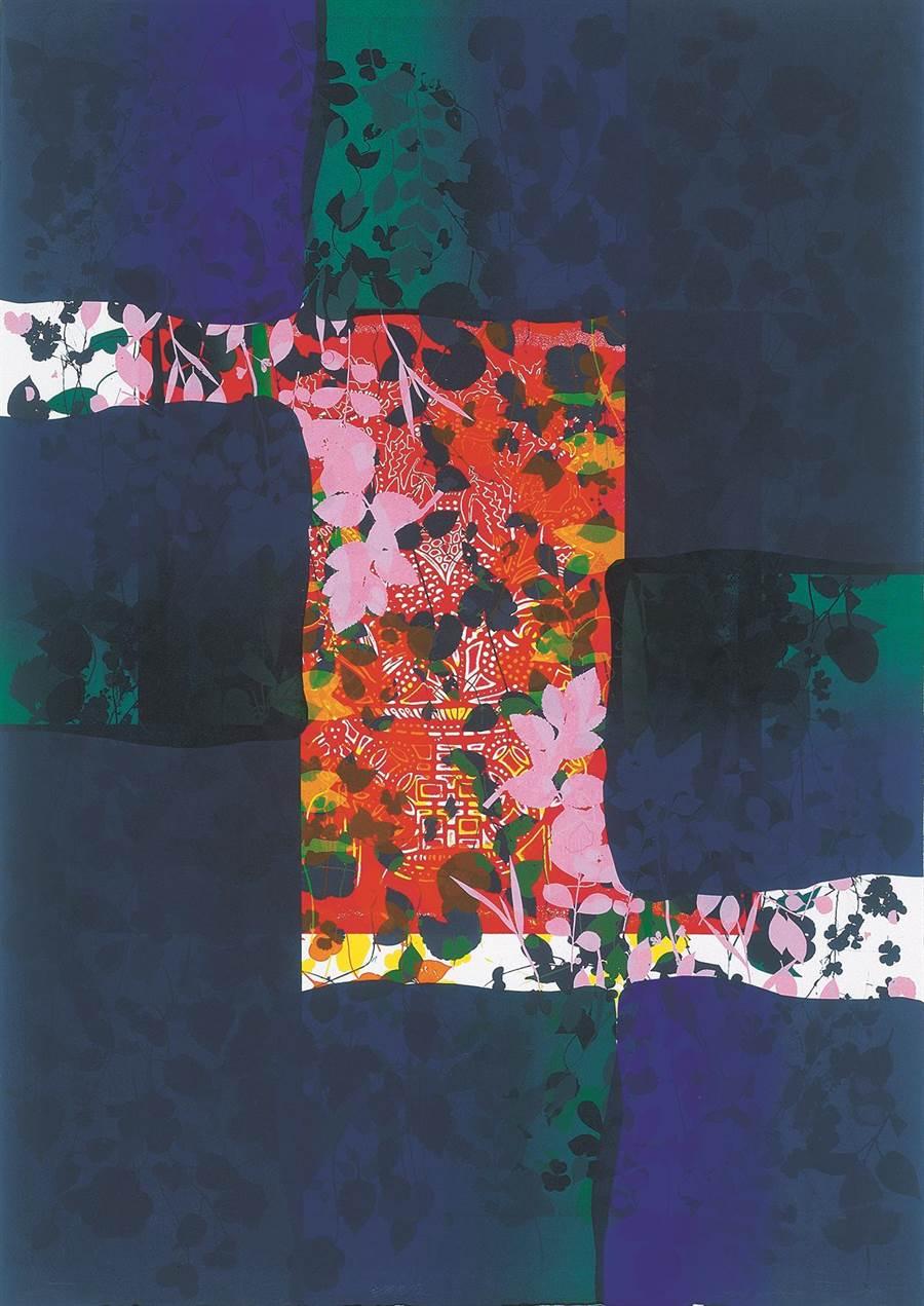 鐘有輝, 生機無限, 2000, 105 x 75 cm, 併用版、紙張