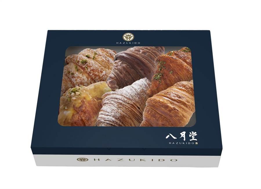 微風台北車站八月堂,凡於櫃內購買1盒6入可頌享5 折優惠,每日限量30組。(微風提供)