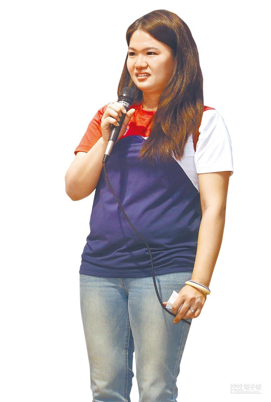 目前已拿到東奧參賽資格的射擊女將田家榛呼籲,別讓運動員失去應有的舞台。(范揚光攝)