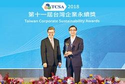 台灣大電信業唯一獲十大永續典範獎