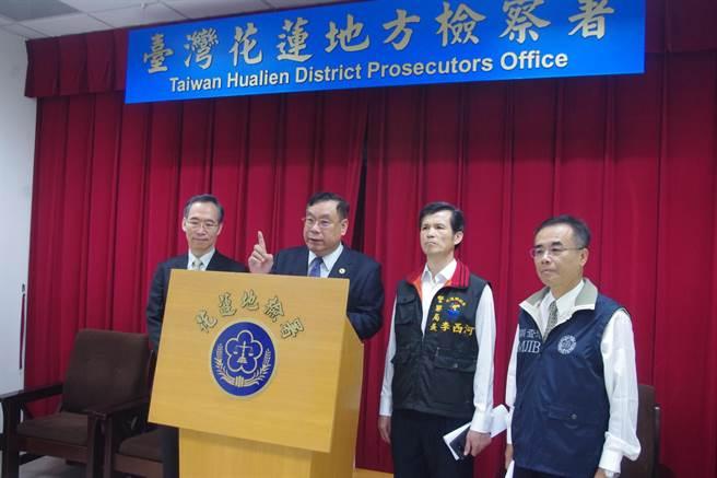 花蓮地檢署選前收網,查獲五件賄選案件,選前已查獲20件賄選案。(許家寧攝)
