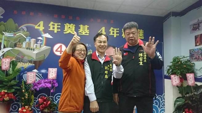 連江縣長劉增應在下午5時30分自行宣布當選,成為全台灣最早宣布當選的縣長候選人,連任成功。(葉書宏翻攝)