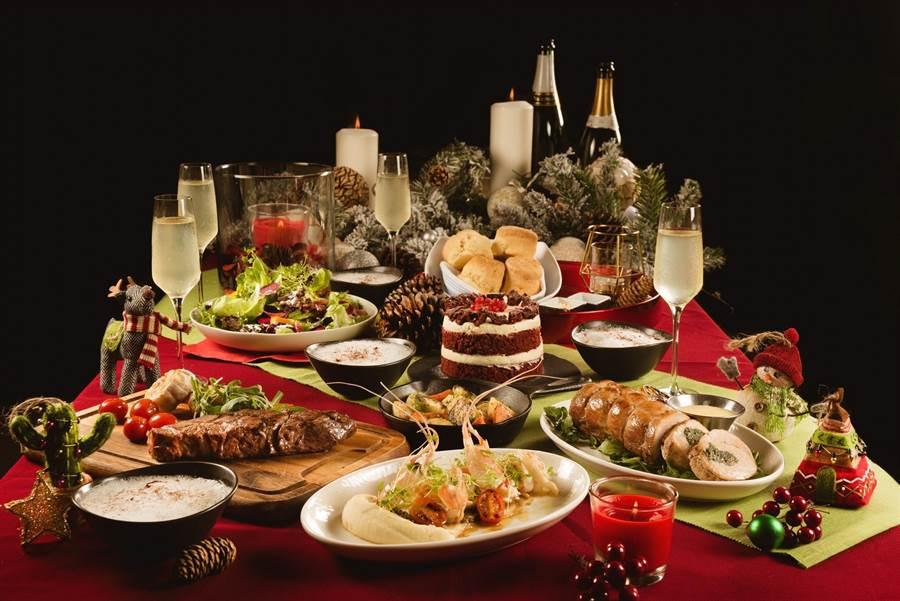 Buttermilk摩登美式餐廳「瘋聖誕、迎跨年 四人分享餐」,售價3980元+10%/套。(圖片提供/台北中山意舍酒店)