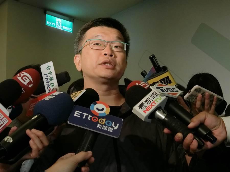 林佳龍競選總部主委、立法院副院長蔡其昌24日表示,這場選舉就是選民對民進黨的反彈和不滿意。(盧金足攝)
