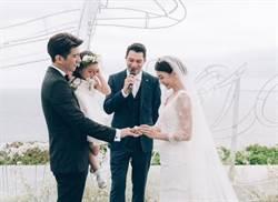 賈靜雯、修杰楷峇里島浪漫婚 咘咘感動哭哭了