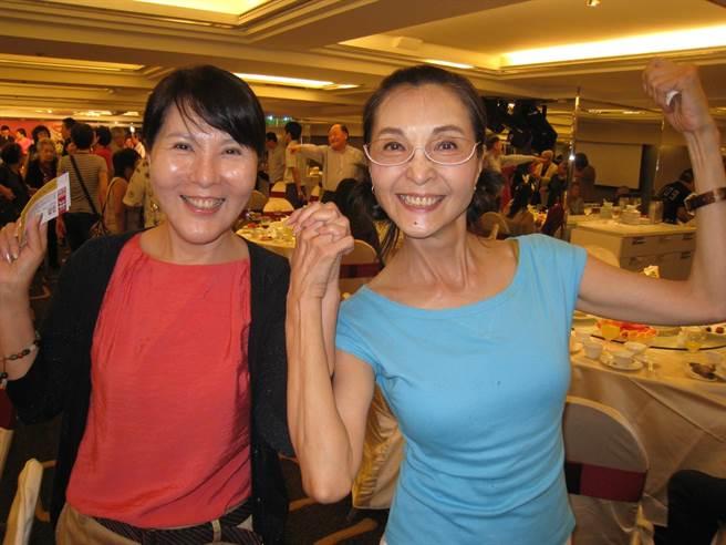 李麗鳳之前與好友陳淑麗一起出席活動。(資料照)