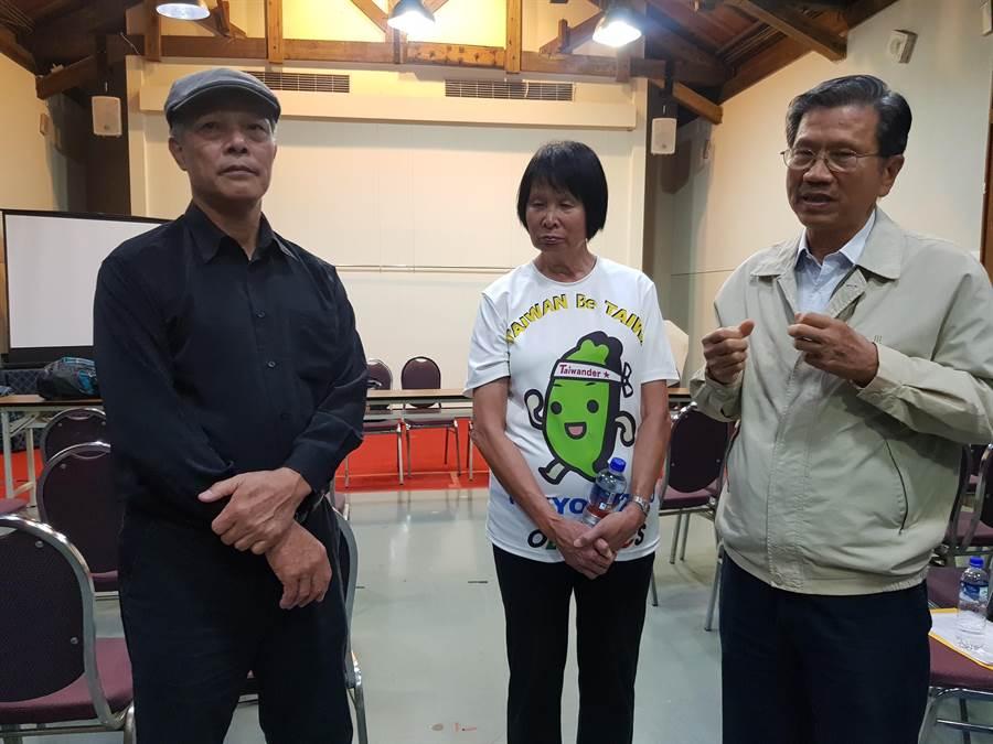 東奧正名行動聯盟召集人楊忠和(左),遺憾選前的假新聞影響選民投票。(資料著/陳筱琳攝)