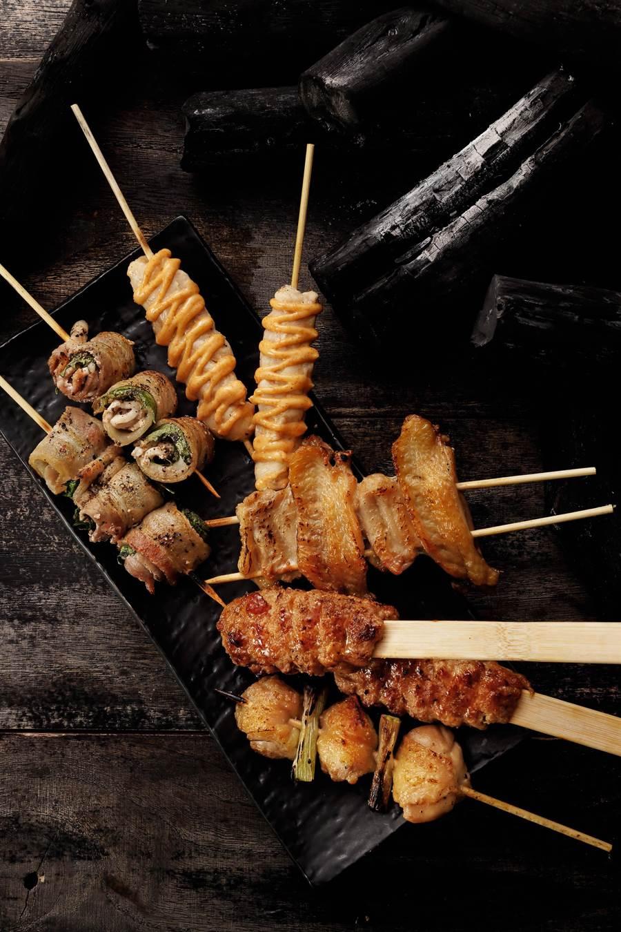 每月29日推出限定版料理「串燒盛合」,特惠價429元。(圖片提供/鳥丈炉端焼)