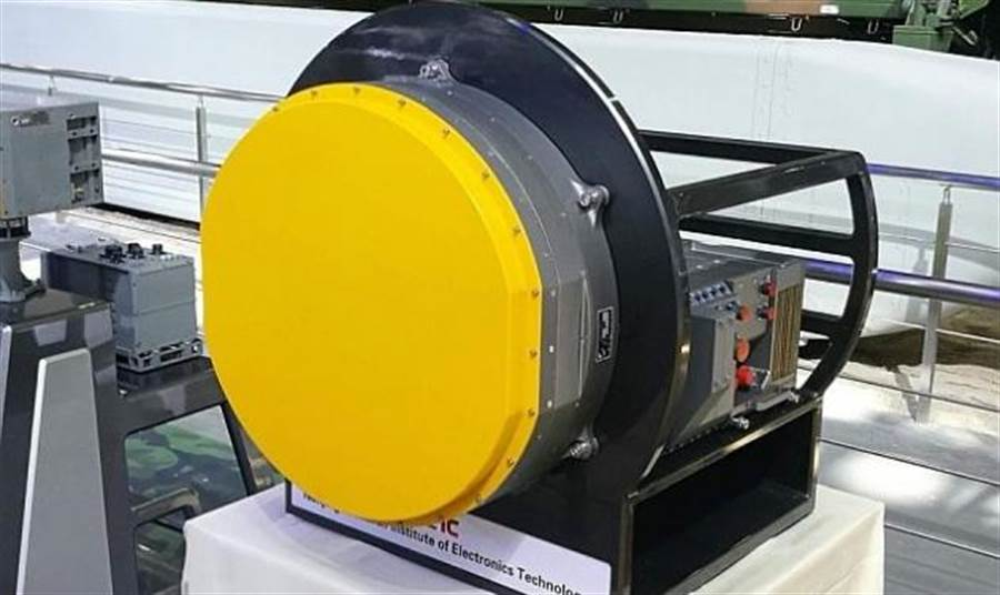 梟龍戰機的相陣雷達,體積小但是功能頗佳。(圖/巴基斯坦空軍)