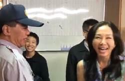 影》韓國瑜勝選夜 李佳芬先握了每位警員雙手