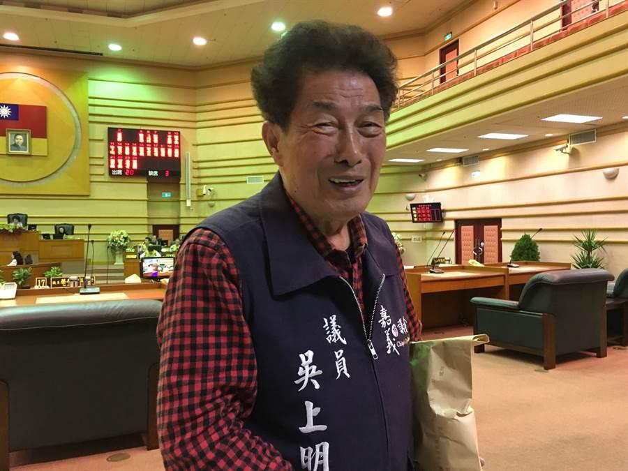 嘉義市議員吳上明有意問鼎議長大位。(廖素慧攝)