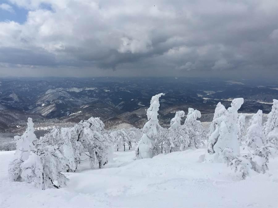 秋田冬季樹冰。圖:遠航提供