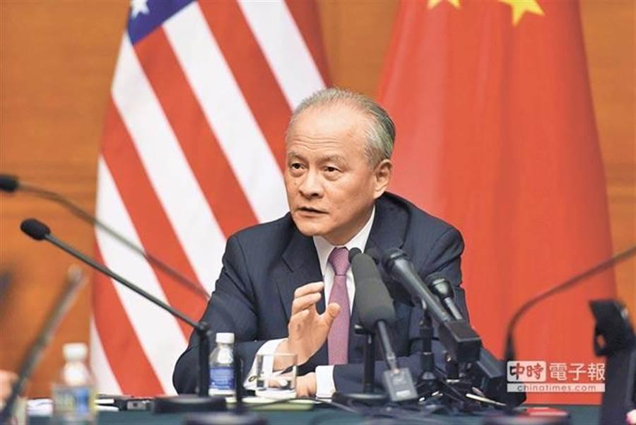 中國駐美國大使崔天凱。(中新社資料照片)
