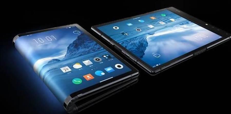 柔宇科技發表第一款可摺疊螢幕手機「柔派」。(圖/翻攝柔宇科技官網)