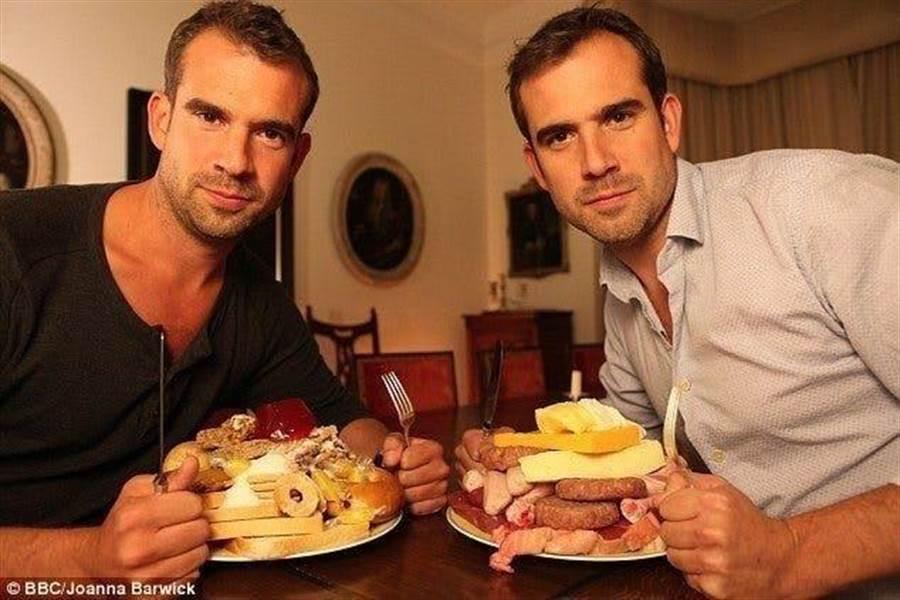 BBC 2014年請一對擔任醫生的雙胞胎進行實驗,拍了一部「糖脂大戰」紀錄片。(翻攝BBC)