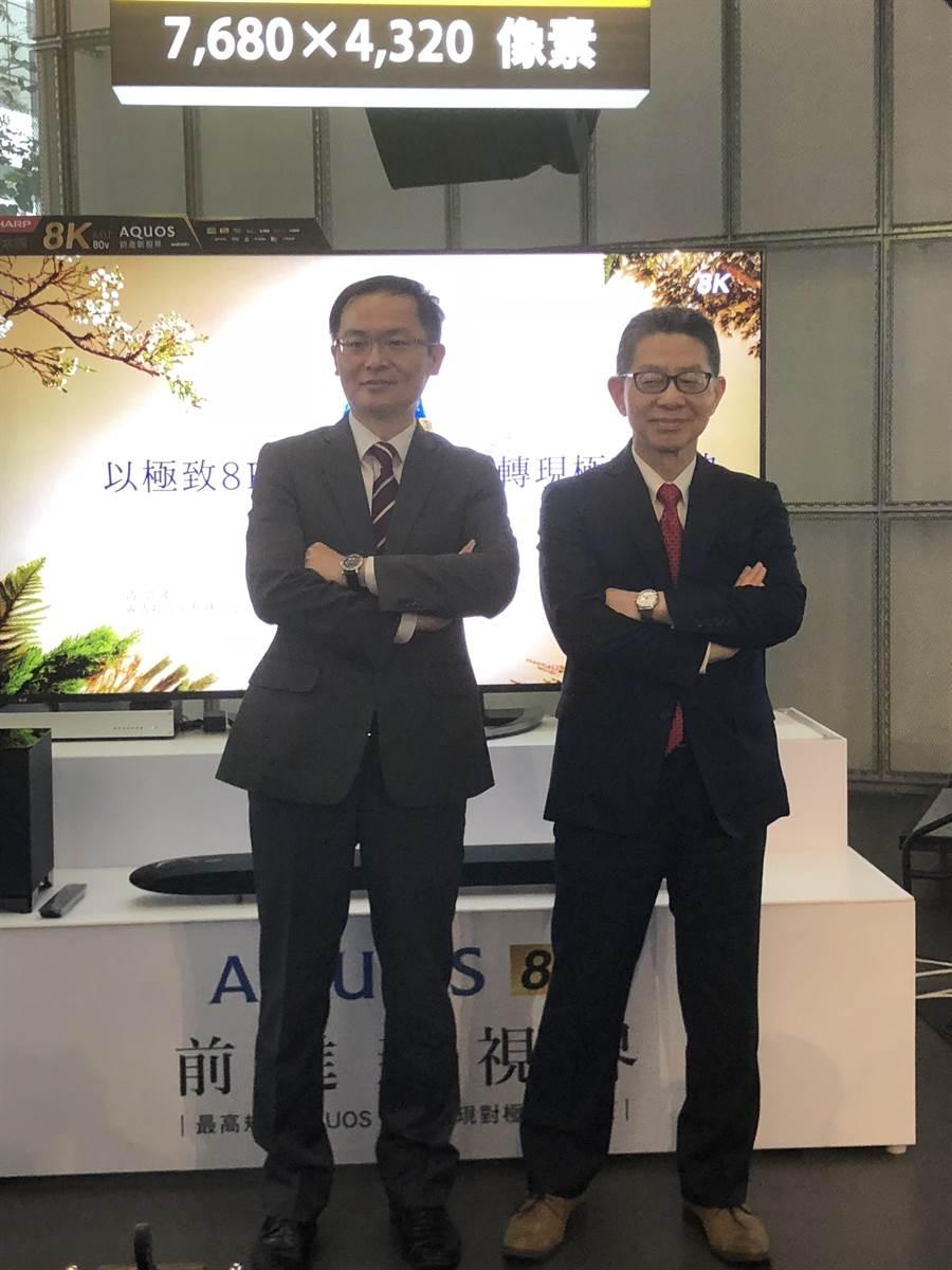 夏普今日在台灣發表三款60-80吋AQUOS第二代8K電視。圖文/沈美幸
