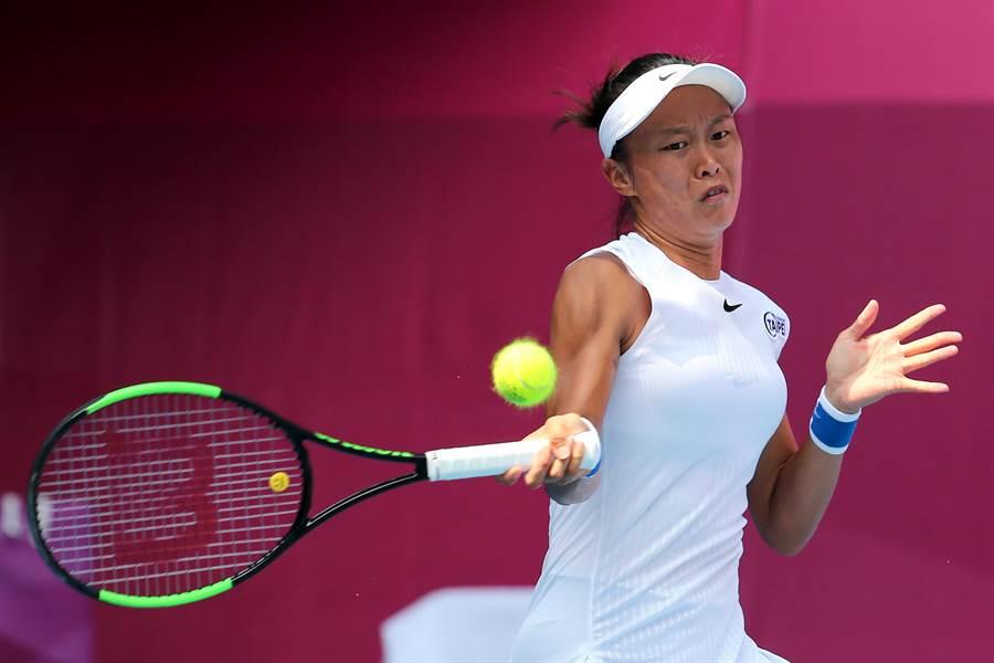 張凱貞努力拚2020年澳網女單及女雙外卡冠軍,希望可以收下澳網正賽門票。(資料照/黃世麒攝)