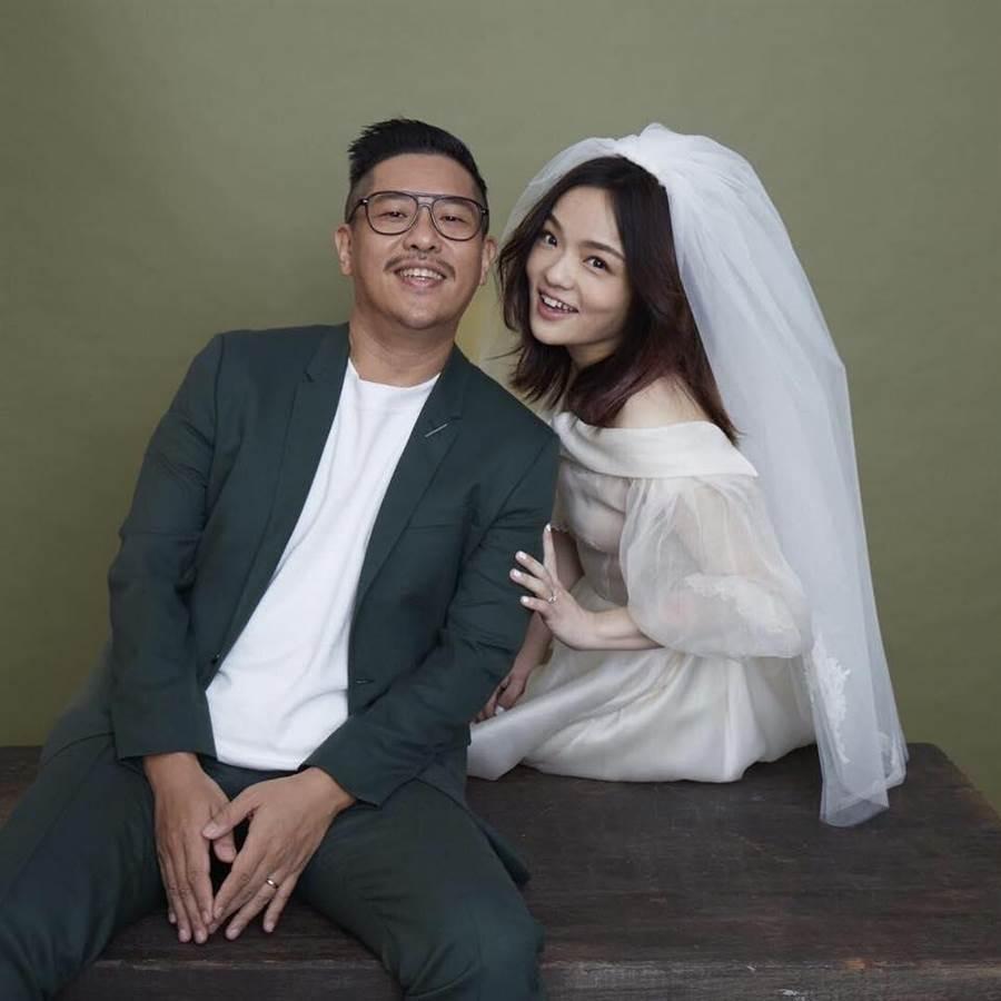 金曲歌后徐佳瑩曬出與老公比爾賈的甜蜜婚紗照!(圖/取自Lala 徐佳瑩臉書)