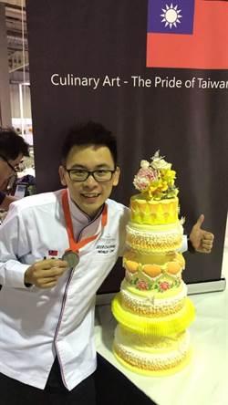 他的翻糖蛋糕太美 國際賽獲1銀1銅