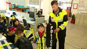 幼童參訪派出所 高喊長大當警察