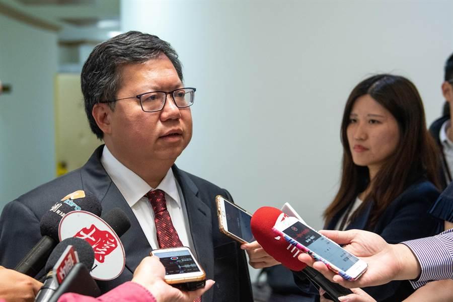 桃園市長鄭文燦表示,討論黨主席不如好好討論執政。(甘嘉雯攝)