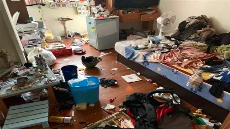 花蓮一名馮姓屋主好心將房屋借一對母子居住,卻被弄得髒亂不堪!(圖/取自中天新聞CH52)