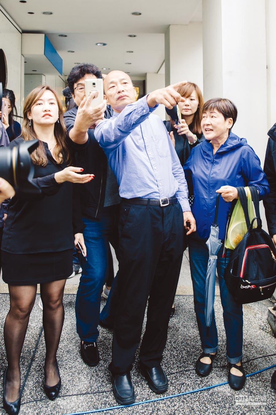 韓國瑜自許為城市CEO,並為未來的高雄立下振奮人心的願景。圖/郭吉銓