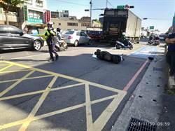 擦撞貨車遭輾 婦人爆頭身亡