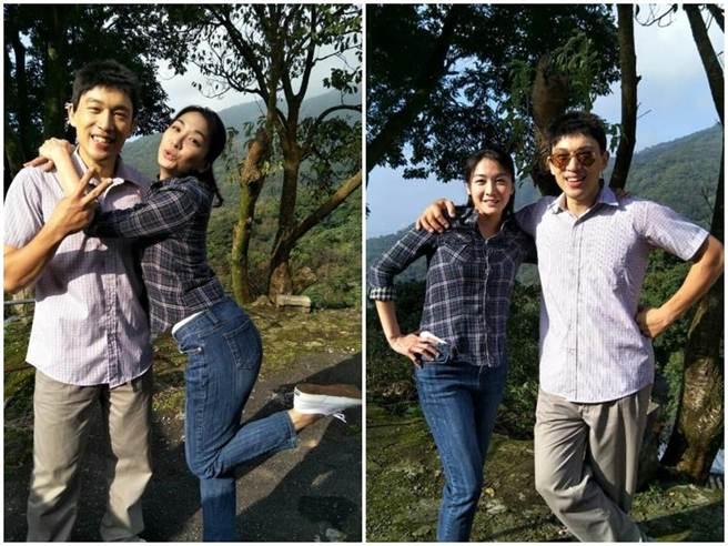 江祖平和李政穎日前在陽明山附近出外景。(取自臉書)
